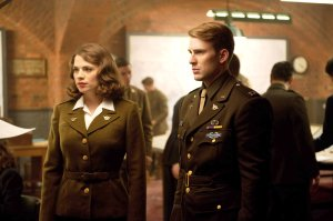 captain america steve and peggy