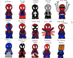 costumes_of_spiderman_by_twisted_stoner11
