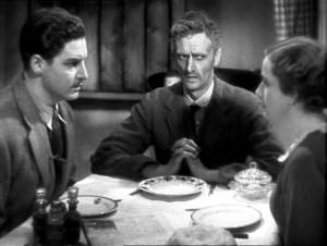 Peggy Ashcroft, John Laurie + Robert Donat - The 39 Steps (1935) triangle