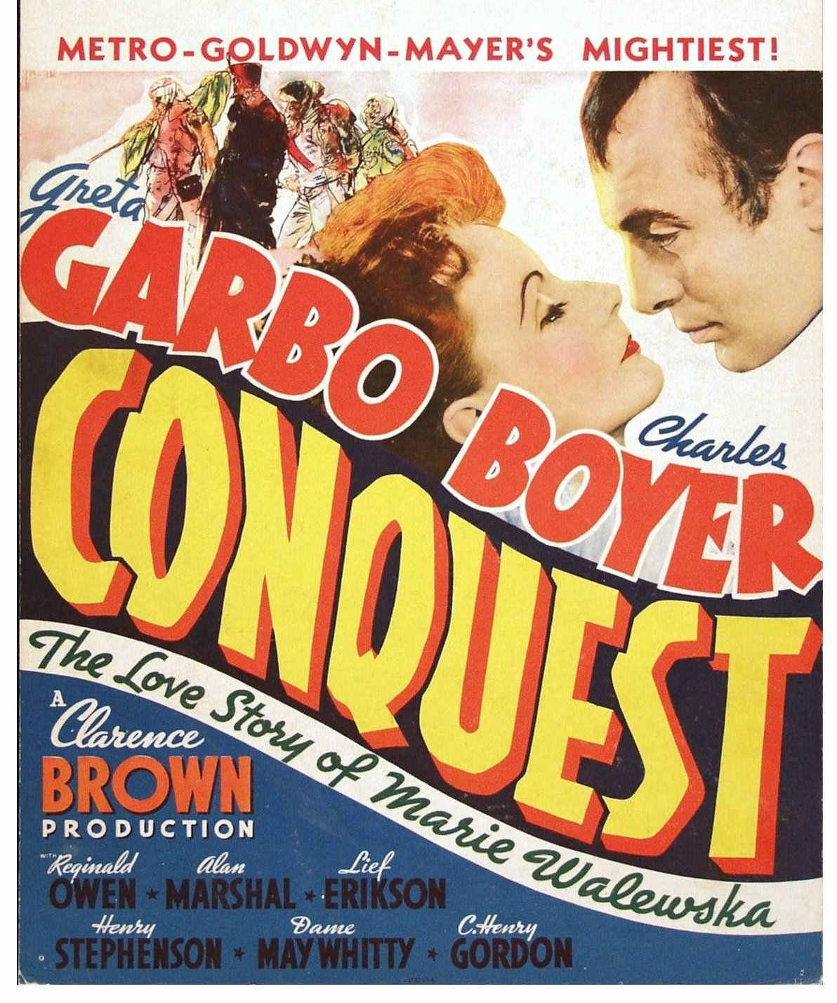 Image result for conquest movie poster 1936